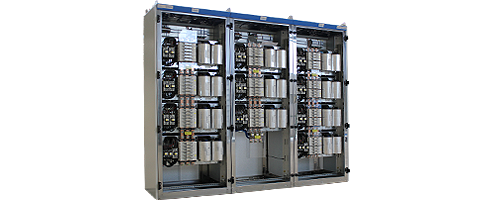 Compensation panel to reduce reactive power